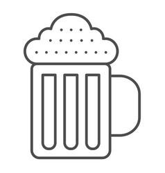 beer mug thin line icon beverage vector image