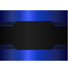 black and blue metal background vector image