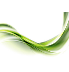 Bright green abstract flowing dynamic waves vector