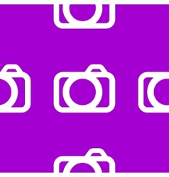 Camera web icon flat design Seamless pattern vector image