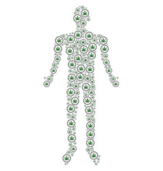 Cannabis human figure vector