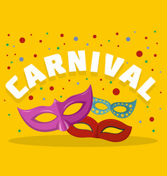 Carnival logo flat style vector