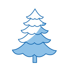 Cartoon pine tree natural plant of forest image vector