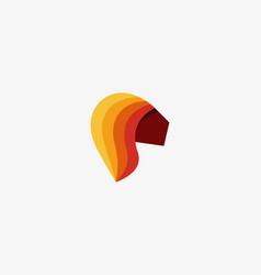 color lion head logo design template vector image