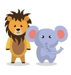 Cute couple stuffed animals vector