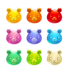 Cute jelly beaver faces vector