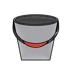 Fishing bucket isolated icon vector