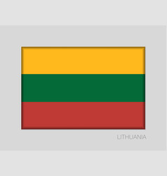 Flag of lithuania national ensign aspect ratio 2 vector