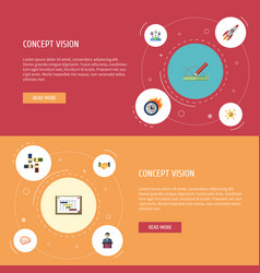 flat icons financing businessman limit and other vector image