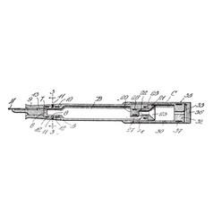 fountain pen or pen point vintage engraving vector image
