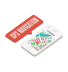 gps navigation on smartphone vector image