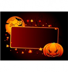 Halloween place card vector