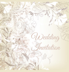 hand drawn wedding classic invitation design vector image