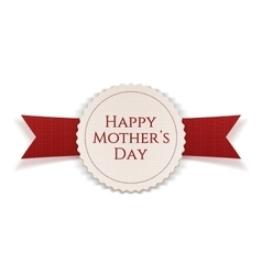 happy mothers day realistic festive banner vector image