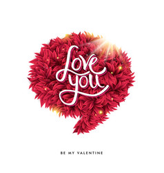 Happy valentines day card design with love you vector