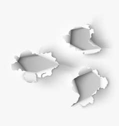 Hole torn in ripped paper vector