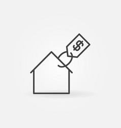 house with price tag icon vector image