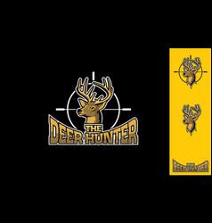 hunting deer logo icon vector image