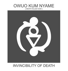 Icon with african adinkra symbol owuo kum nyame vector