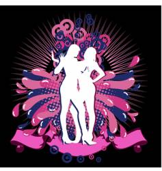illustration on a fashion theme vector image