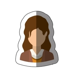 Isolated avatar woman design vector