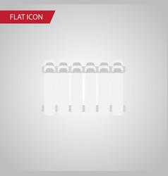 isolated heater flat icon radiator element vector image