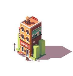 isometric creperie restaurant vector image