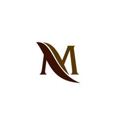 Letter m leaf vector