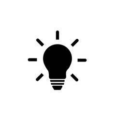 light bulb line icon lamp symbol icon for web vector image
