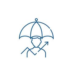 Management of risks line icon concept management vector