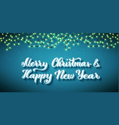 merry christmas and happy new year template for vector image