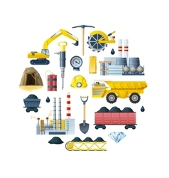 Mining industry round composition vector