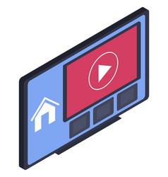modern technologies smart tv interface on screen vector image