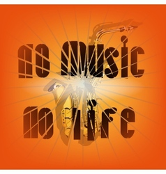 no music no life vector image