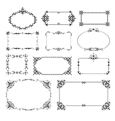 Ornamental design corners set vector image