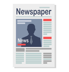 paper newspaper isolated on white vector image