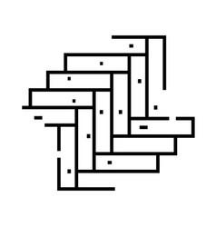 parquet pattern line icon concept sign outline vector image