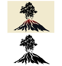 Powerful volcanic eruption vector
