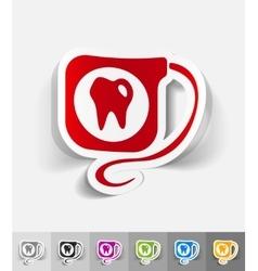Realistic design element dental floss vector