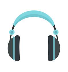 rock headphones icon flat style vector image