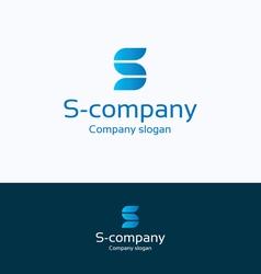 S company logo vector image