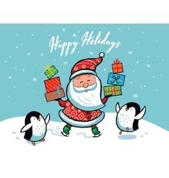 Santa Claus Christmas card vector image