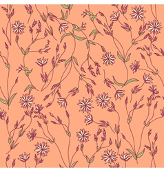 Seamless texture with flowers and leaves vector image
