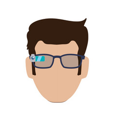 Smart glasses technology vector