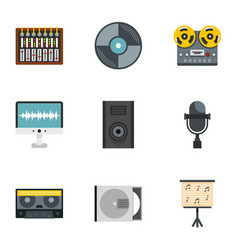 sound producing icon set flat style vector image