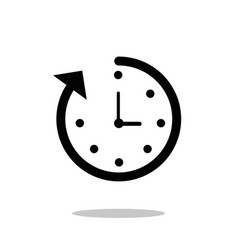 Time icon fast time icon deadline icon vector
