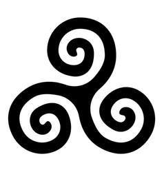Triskelion or triskele symbol sign icon black vector