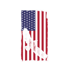 Usa american national flag in disstressed white vector