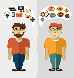 Web developer and Graphic designer vector