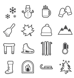 winter icon vector image